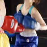 ミックスボクシング対決!男の拳が美女ボクサーの顔やボディーにヒット!