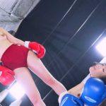 身長差24cm!トップレス+ブルマ着用女子ボクシング対決!